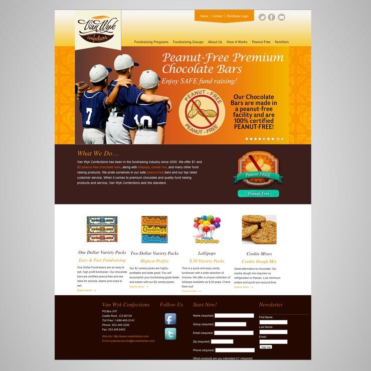 Van Wyk Confections Website