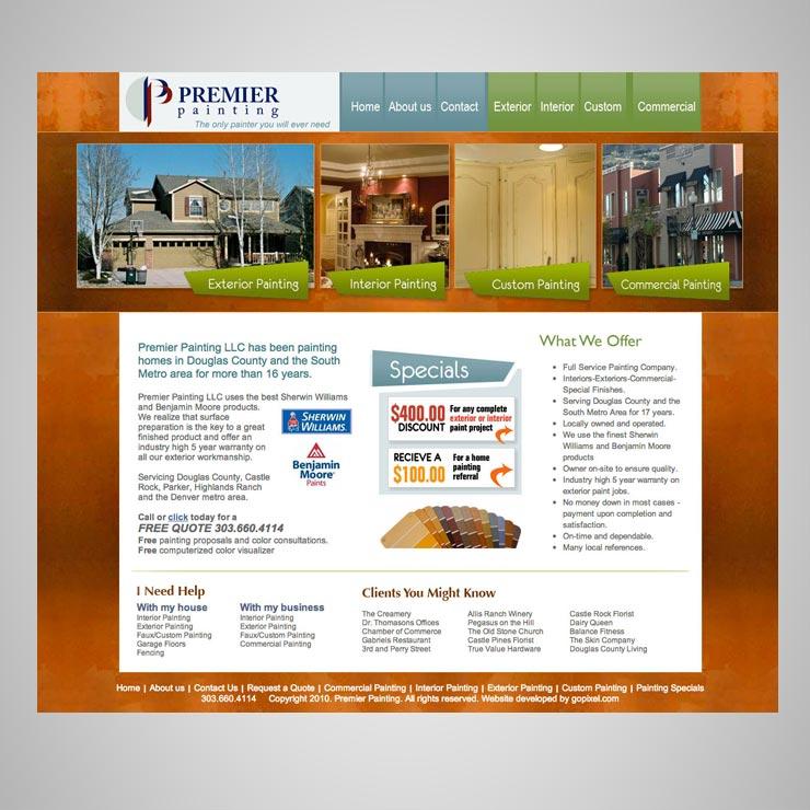 Premier Painting Website